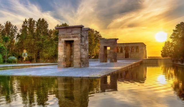 Sunset at the Temple of Debod